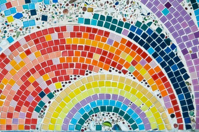 Výroba mozaiky na stůl