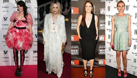 Zleva: Anna Plunkett, Mary-Kate Olsen, Julianne Moore, Diane Kruger
