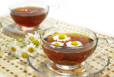 bylinkový čaj z heřmánku