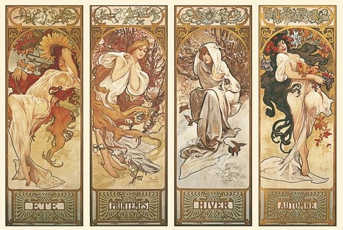 Alfons Mucha čtyři roční období