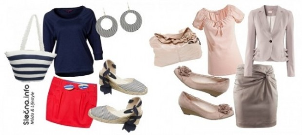 Outfit námořnický a pudrově růžový