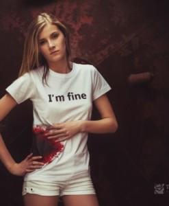 Tričko I'm fine